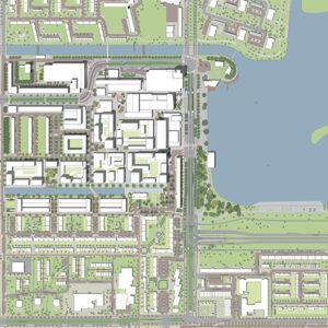 Centrum Nieuw West plankaart ontwerp leiding