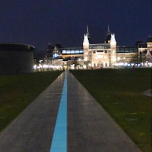 Lichtlijn Museumplein Rijksmuseum