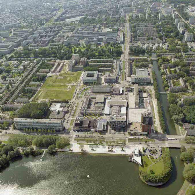 Centrum Nieuw West luchtfoto projectgebied