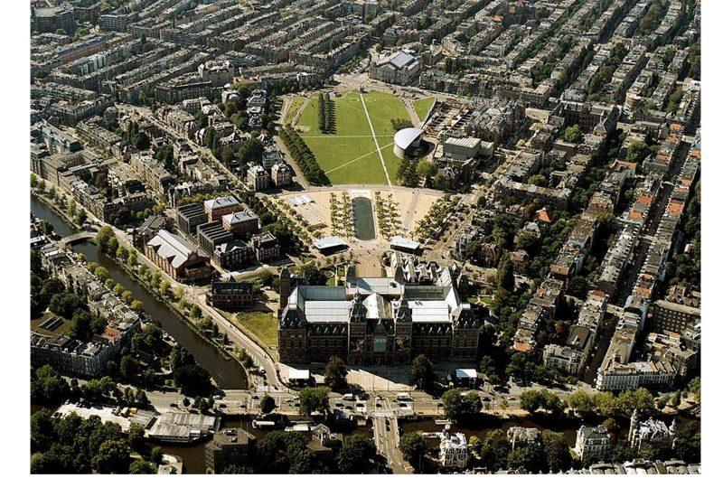 Museumplein luchtfoto ontwerp Basis op orde