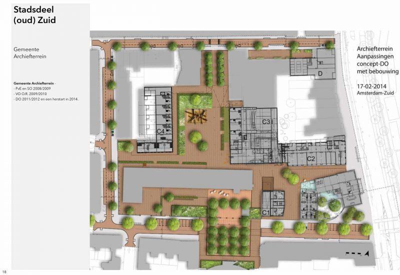 Voormalig Gemeente Archiefterrein nu Asscherkwartier ontwerp pve so vo do
