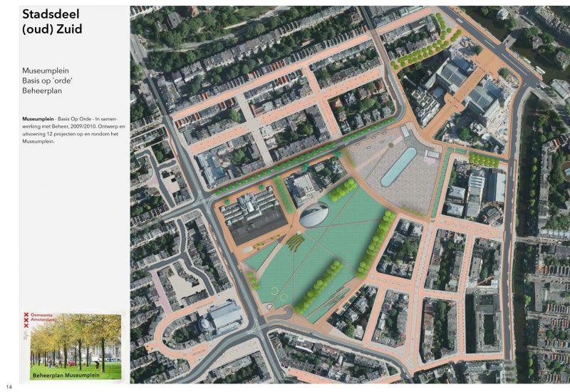 Museumplein Amsterdam ontwerp en uitvoering